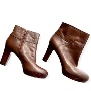 Nine West Brown Eriellao Ankle Boot SZ 7.5
